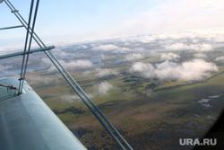 Валуев в Частоозерье, вид из самолета