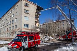 Обрушение дома на Харьковской, 52а. Работа спасателей. Тюмень, спецтехника, обрушение дома, аварийная ситуация