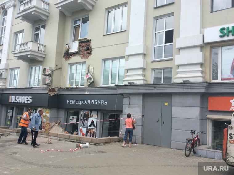 Челябинск. Обрушение балкона