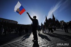 Концерт по случаю Дня России на Красной площади. Москва, митинг, флаг россии
