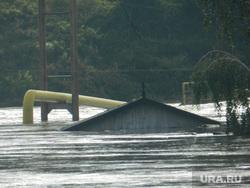 Клипарт. Челябинск, потоп, наводнение, затопленные дома