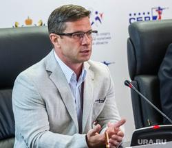 Пресс-конференция в день открытия чемпионата мира по летнему биатлону. Тюмень, грамотин дмитрий