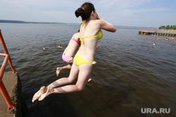 Дети. Пермь, отдых, пляж, водоем, дети, прыжок в воду