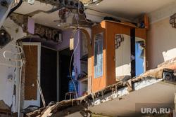 Обрушение дома на Харьковской, 52а. Работа спасателей. Тюмень, квартира, обрушение дома