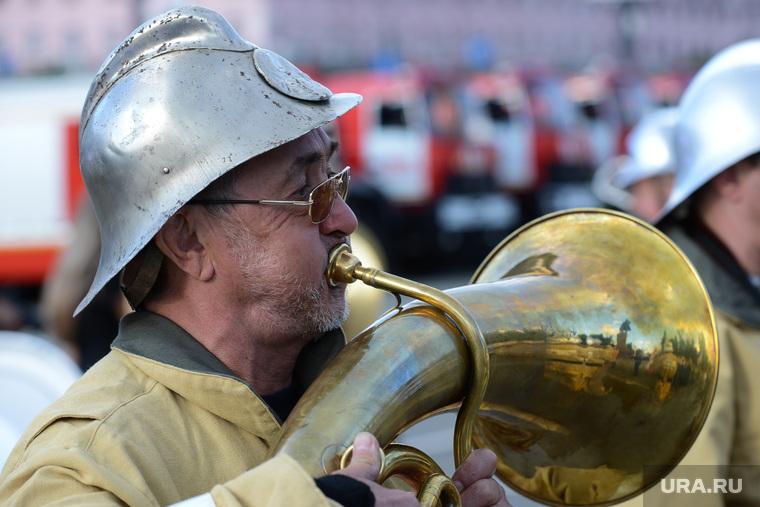 Чемпионат России по пожарно-прикладному спорту. Челябинск., оркестр, трубач