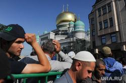 Мусульмане празднуют Ураза-байрам. Москва, мечеть, ислам, московская соборная мечеть