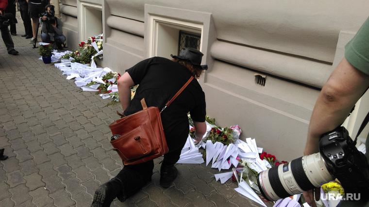 Акция в память о жертвах малайзийского Боинга. Москва