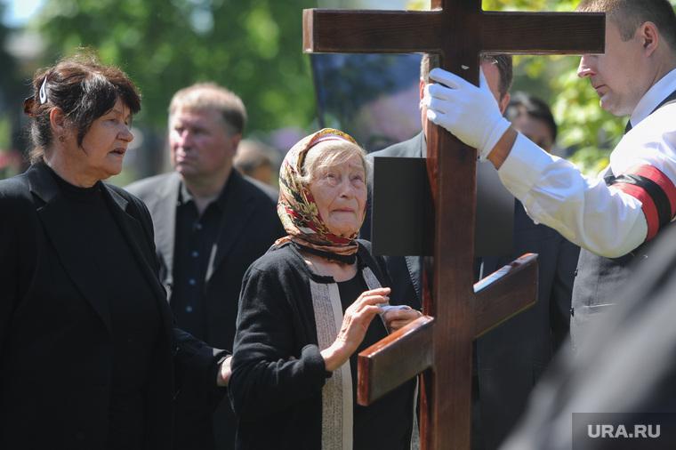 Прощание и похороны Геннадия Селезнева. Москва, мать