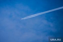 Клипарт. Екатеринбург, небо, самолет