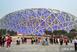 Пекин. Китай, пекин, стадион птичье гнездо