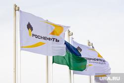 Роснефть. Нижневартовск , роснефть, флаги
