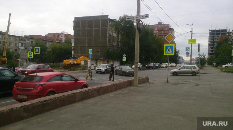 Клипарт. Челябинск., пешеходный переход, лежачий полицейский
