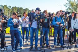 Открытие развязки Московская-Объездная. Екатеринбург, съемочная бригада, журналисты