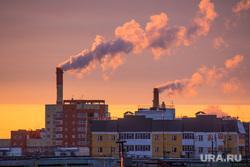 Клипарт. Нижневартовск, трубы, котельная, тепло, отопление, дым из труб