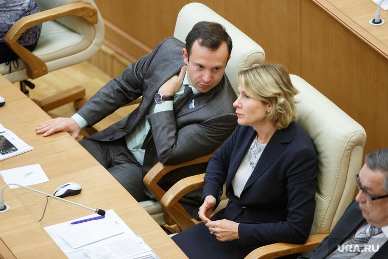 Бюджетное послание губернатора на первом заседании заксобрания СО. Екатеринбург , чечунова елена, коробейников алексей
