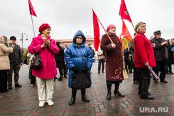 Черепанов Александр. Митинг против итогов сентябрьских выборов. Тюмень, пенсионерки, бабушки