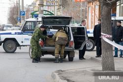 Взрывное устройство Курган остановка у Куйбышева 75 22.11.2013г, взрывотехники, оцепление