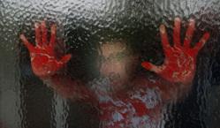 Открытая лицензия на 04.08.2015. Нож. Кровь., нож, кровь, убийство, уголовное, руки в крови, криминал