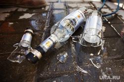 Акция уничтожения паленого алкоголя. контрафакт. Екатеринбург, водка, стекло, алкоголь, разбитая бутылка