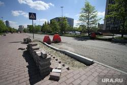 Ремонт дорог перед зданием правительства Свердловской области. Екатеринбург, тротуарная плитка