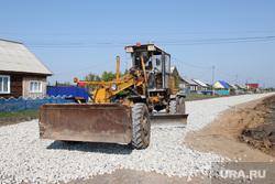 Подготовка села Частоозерье  Курганская обл, ремонт дороги
