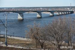 Клипарт. Пермь, автодорожный мост, река кама