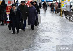 Клипарт по теме Гололед. Челябинск., старики, гололед, пенсионеры