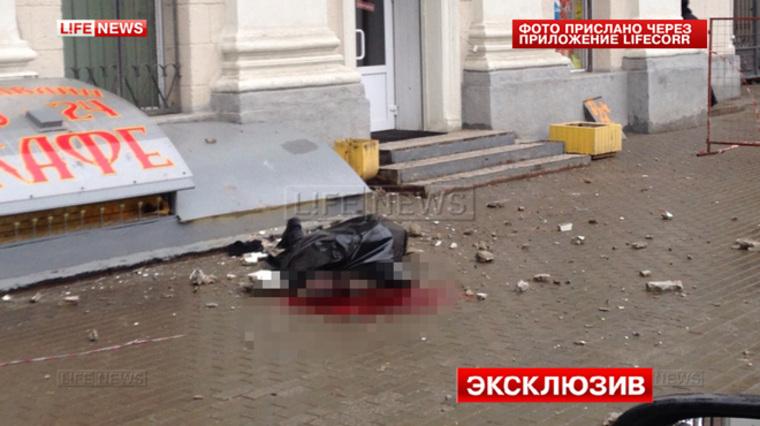 В москве упавшая с балкона штукатурка убила прохожего / vse4.