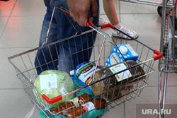 Цены на продукты Курган, корзина с продуктами