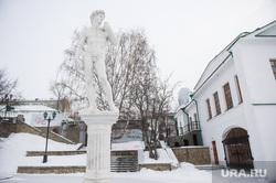 Неприкрытый Давид в Историческом сквере. Екатеринбург