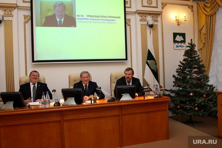 Заседание правительства области  Курган, кокорин алексей, пугин сергей, путмин, новогодняя елка, заседание правительства