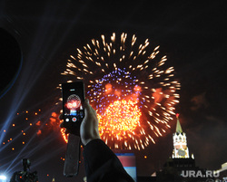 Концерт и салют на Красной площади. Москва, праздник, салют