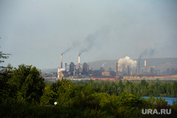 Клипарт. Магнитогорск, дым, ммк, завод, выбросы, металлургический комбинат, экология