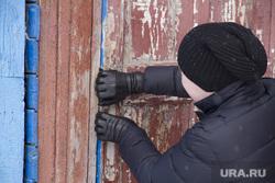 Старые здания по улице Горького и их обитатели. Екатеринбург, дверь закрыта