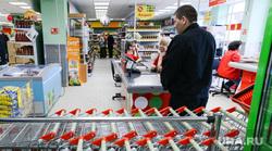 Пятерочка. Супермаркет. Челябинск., касса, охрана, супермаркет, тележки