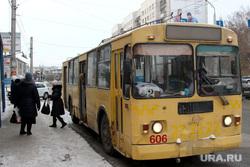 Пассажирский транспорт Курган, троллейбус, автобусная остановка