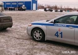 Митинг дальнобойщиков на выезде из Челябинска., дальнобойщики