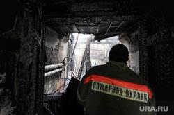 Пожар на улице туруханской. Челябинск., пожарный