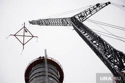 Строительство Нижне-туринская ГРЭС., кран, строительство, нижнетуринская грэс, труба