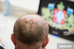 Встреча губернатора с победителями выборов в гордуму Режа. Екатеринбург, татуировка, наколка, паук, сурнин евгений, паук на голове, тату
