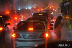 Клипарт. Екатеринбург, пробка, дорожное движение, ночь, вечер