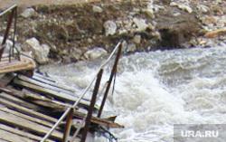 Архив. Паводок. Челябинск., река, мост, паводок, половодье, весна
