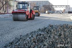 Ремонт дороги ул Бажова Курган , каток, дорожные работы, укладка асфальта, щебень, ремонт дороги