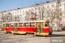 Проспект Ленина. Екатеринбург, трамвай, общественный транспорт