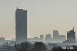 Клипарт. Екатеринбург, пыль в городе, загрязнение среды, панорама, смог, плохая видимость, экология