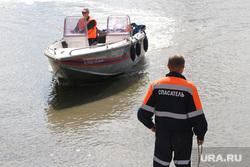 Учения спасателей МЧС Курган, катер, спасатели мчс
