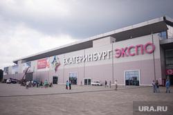 Обход павильонов МВЦ накануне первого дня работы ИННОПРОМа. Екатеринбург