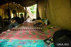 Полевой лагерь 2-го артбатальона бригады