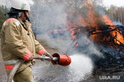Пресс-конференция МЧС Курган, пожарный, огонь, лес горит, тушение пожара