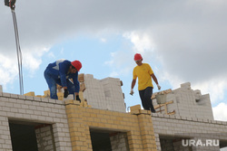 Строящиеся детские сады Курган, строители, стройка